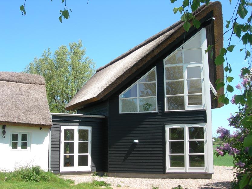 tilbygning træhus